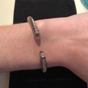 Diamond morganite stone David Yurman bracelet